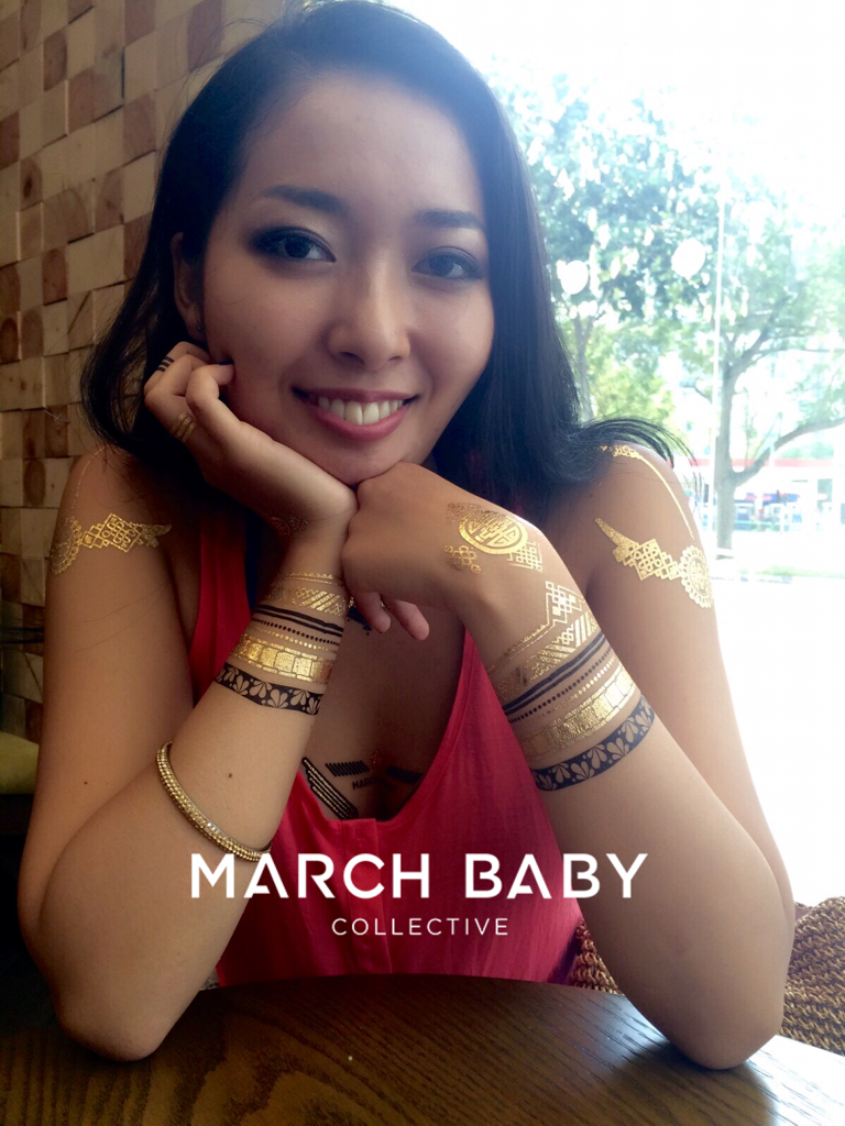 Allinone Metallic Tattoos Set Promotional - MarchBaby Collective