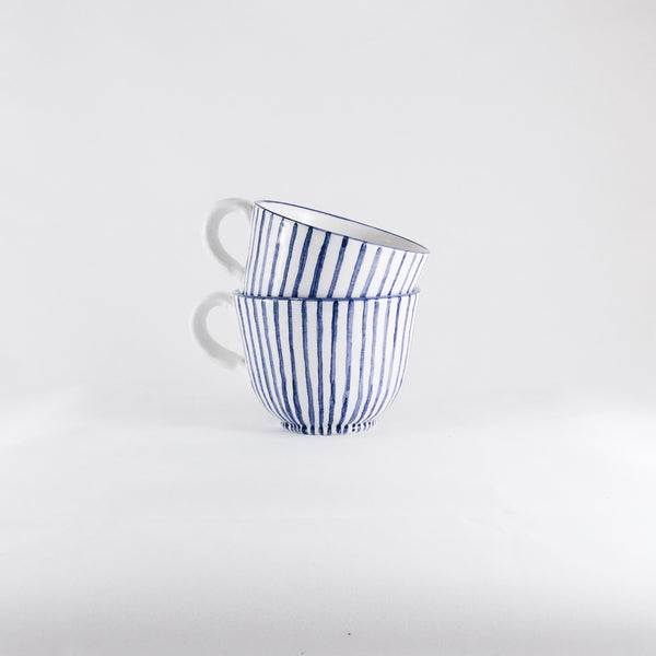 Blue Zigzag Cup