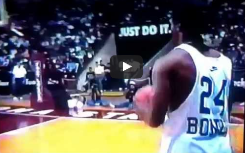 Barry Bonds Dunking at Slam Fest 1992 | Barry Bonds