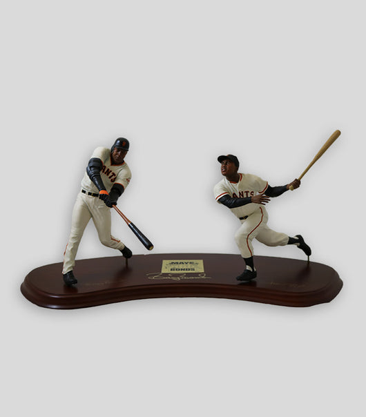 Bonds Hand Signed Danbury Mint 660 HR Mays/Bonds statue set - Signed