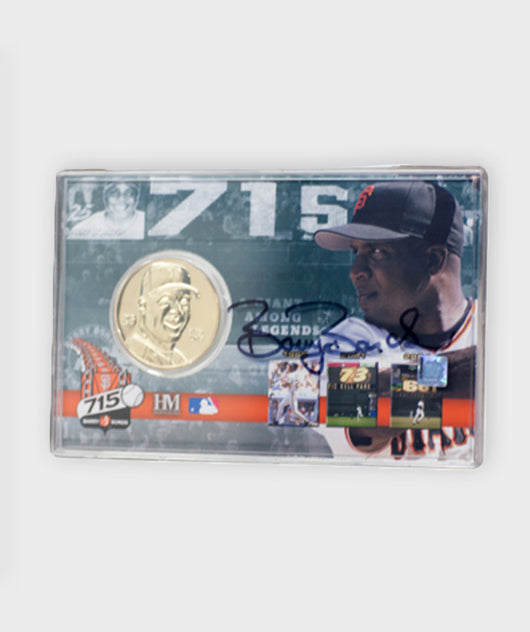 Barry Bonds 715 HR Coin and Commemorative card