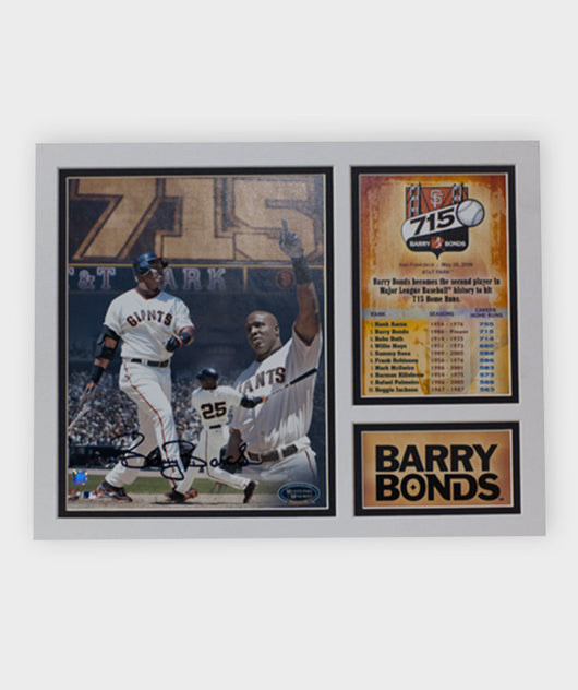 Barry Bonds 715 HR Photo Stat Card