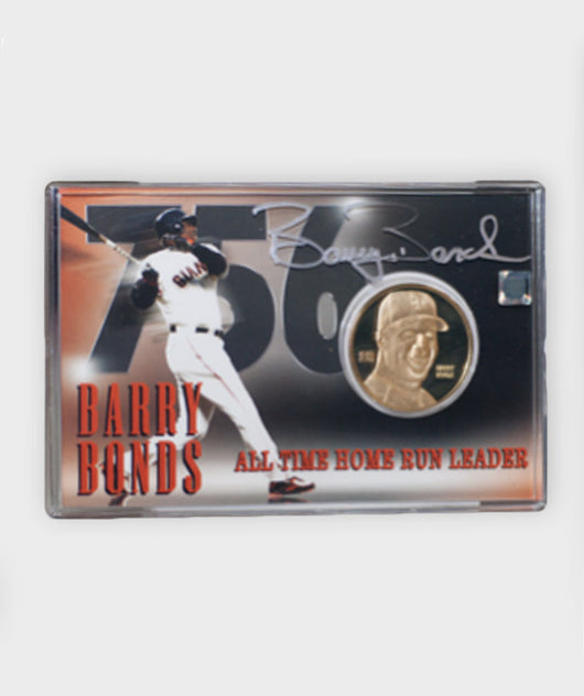 Barry Bonds 756 HR Coin and Commemorative card