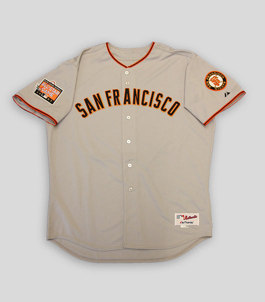 Bonds Hand Signed Game Used 2007 Away Uniform  - Signed