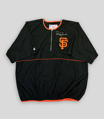 Bonds Hand Signed Game Issued Warm Up Jacket – Short Sleeve - Signed | Barry Bonds