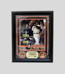756 HR Photomint with Game Used Dirt Coin | Barry Bonds