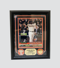 756 HR Photomint with Game Used Bat Piece | Barry Bonds