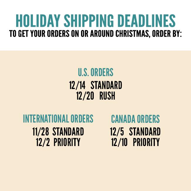 Shipping Deadlines for Lana Del Rey