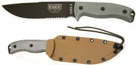ESEE 4 Clip Point Survival Knife 4S-CP Molded Brown Sheath