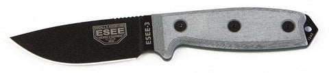 ESEE 3 Survival Knife 3P-B Black Molded Sheath