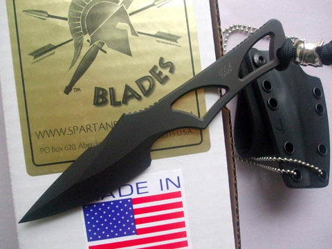 Spartan Blades Enyo Fixed Blade Fighting Neck Knife Kydex Sheath