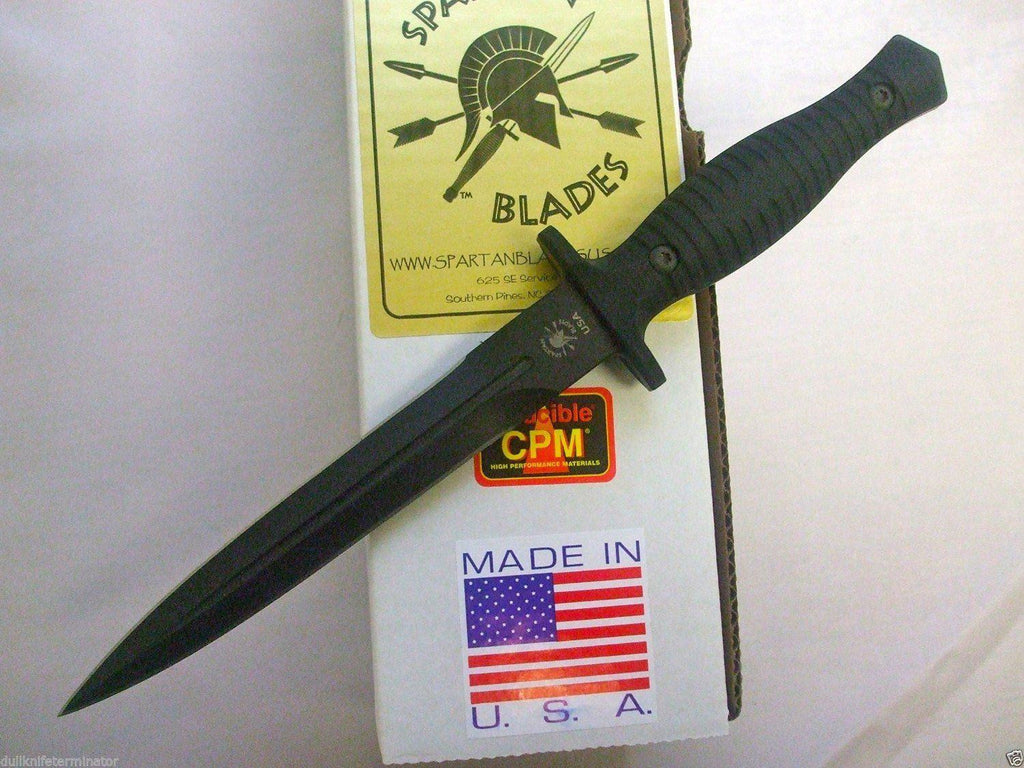 Spartan George V-14 Dagger Fighting Knife Black SB27BKBKKYBK