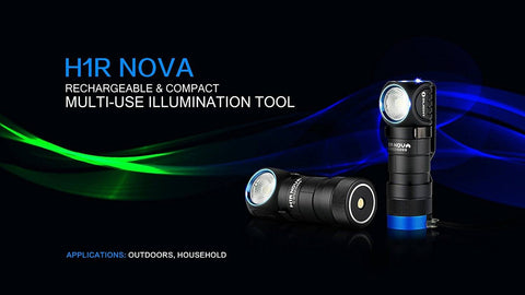 Olight H1R Nova 600 Lumen LED Rechargeable Flashlight / Headlamp New