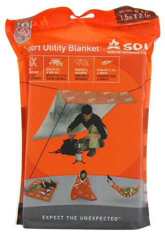 Survive Outdoors Longer SOL Sport Utility Blanket 0140-1224