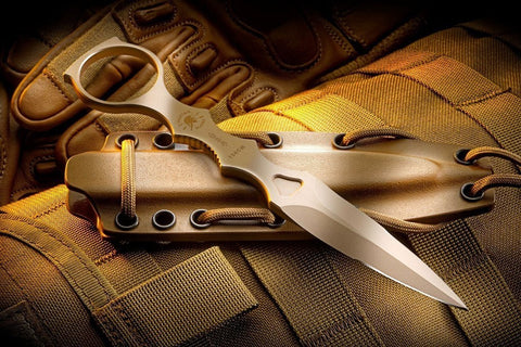 Spartan Blades CQB Tool Fixed Blade Fighting Knife Tan