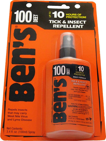 Ben's 100% DEET Mosquito & Tick Insect Repellent Pump 3.4-ounce