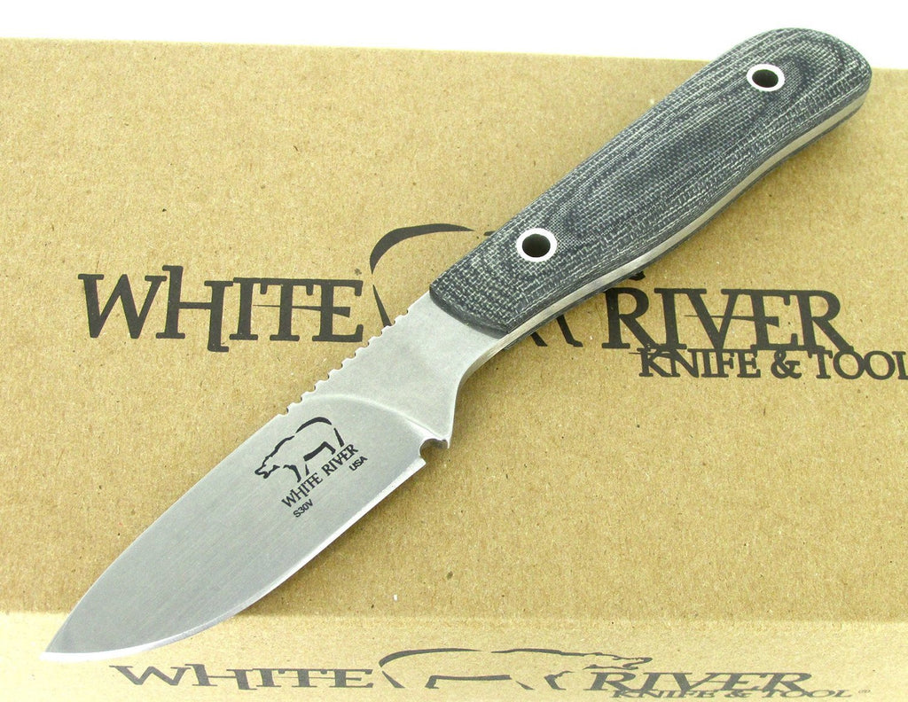 White River Knife & Tool Scout Hunting Knife Black Micarta Handle WRSCT-BLM