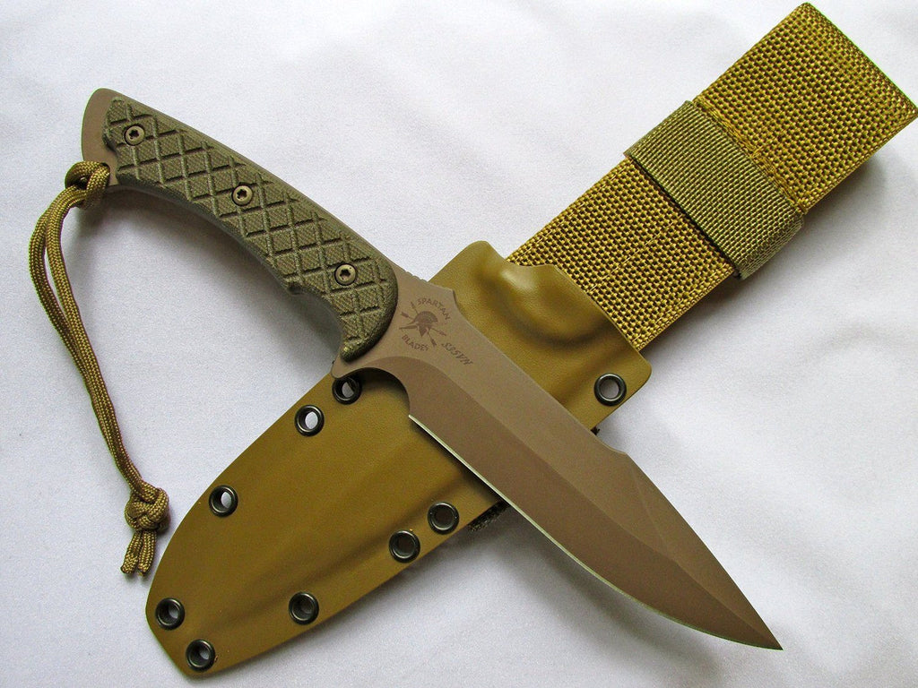 Spartan Blades Horkos Tactical Knife Kydex Sheath SB4DEGRKYTN