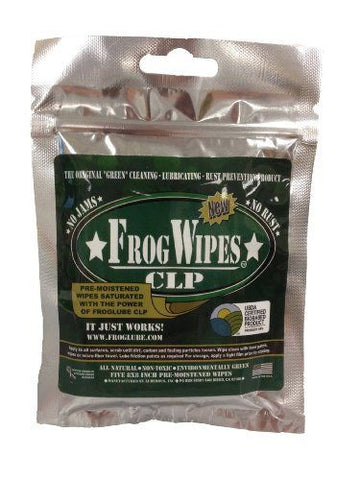 FrogLube CLP Paste Firearm Lubricant Pre-saturated Wipes 5 Pack FL-14936