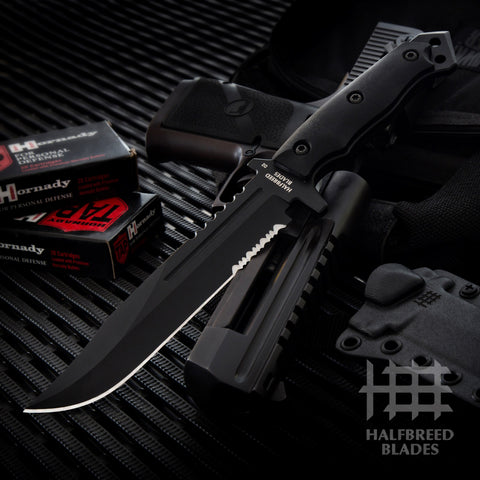 Halfbreed Blades LIK-01 Large Infantry Fixed Blade Knife Black LIK-01-BL
