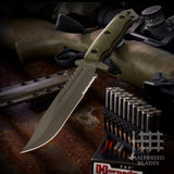 Halfbreed Blades LIK-01 Large Infantry Fixed Blade Knife Ranger Green LIK-01-RG