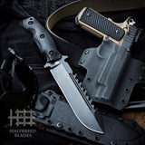 Halfbreed Blades LSK-01 Large Survival Knife Fixed Blade Spear Point Black