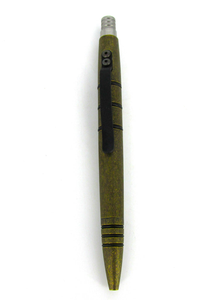 Tuff-Writer Mini Click Series Tactical Pen Aged Brass