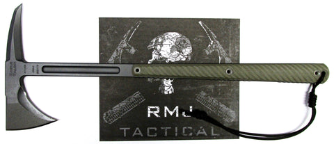 RMJ Tactical Eagle Talon Tomahawk OD Green 3D G-10 Handle Full Tang