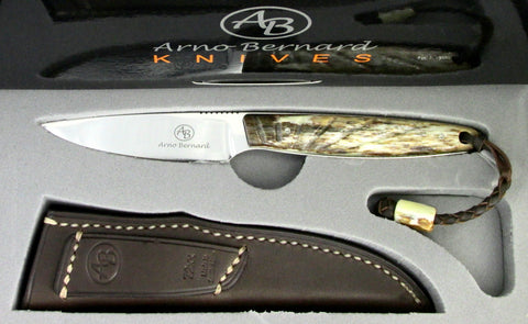 Arno Bernard Knives Bateleur Fixed Blade Knife Giraffe Bone Handle 7202