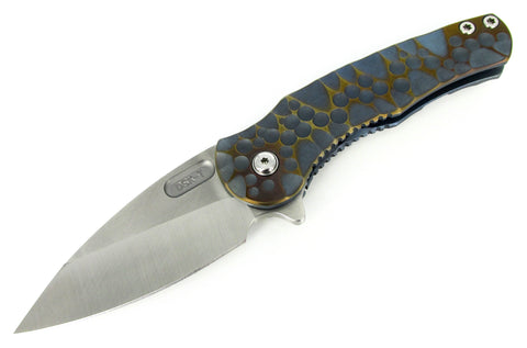 DSK Tactical Knives Stealth Folding Flipper Knife Anodized Titanium Handles CPM-154 Blade 2