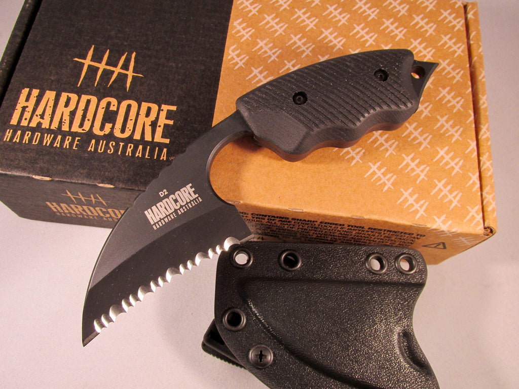 Hardcore Hardware LFK-01SG Serrated Tactical Knife Black