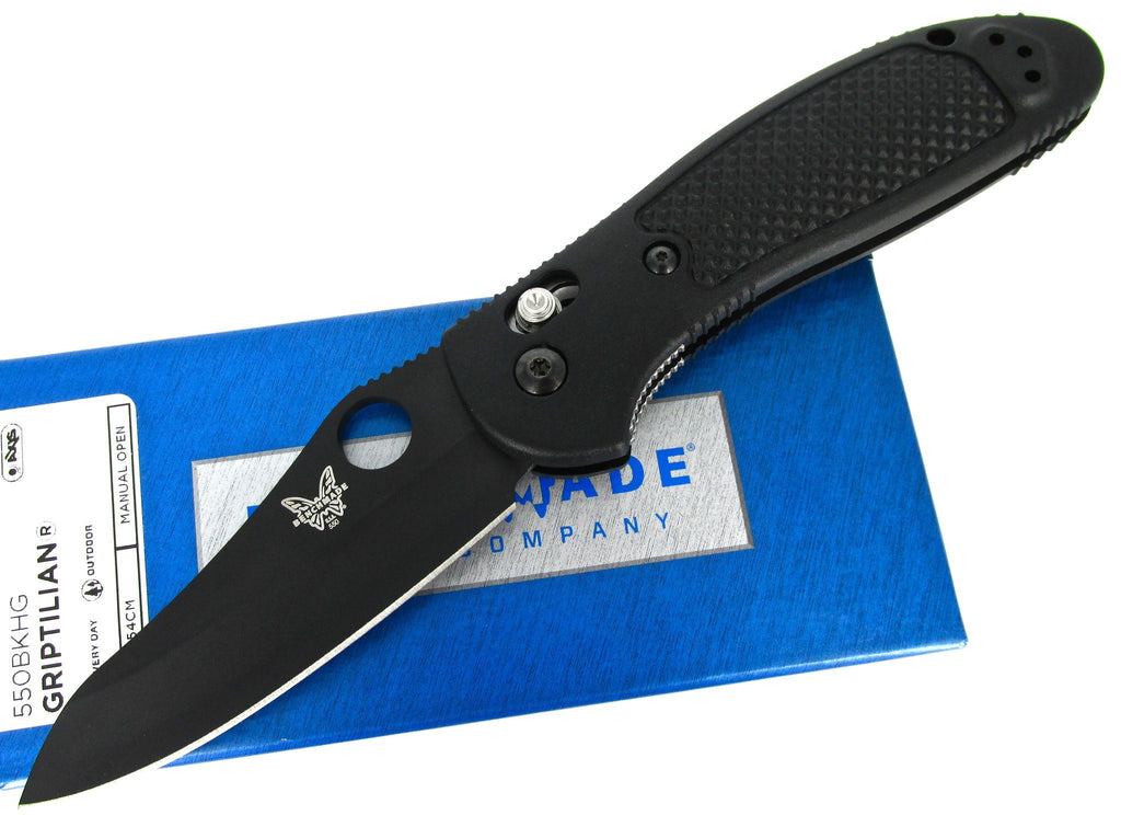 Benchmade Griptilian 550BKHG AXIS Folding Knife Black Nylon Handle