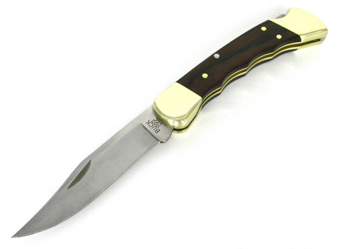 Buck Knives 110 Folding Hunter w/Finger Groove 0110BRSFG