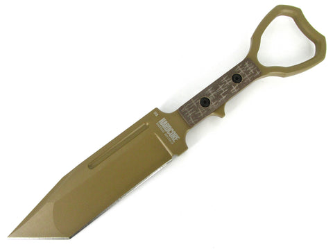 Hardcore Hardware ASOT-02 Tactical CPP Tanto Blade Knife Tan ASOT SOCP Compliant