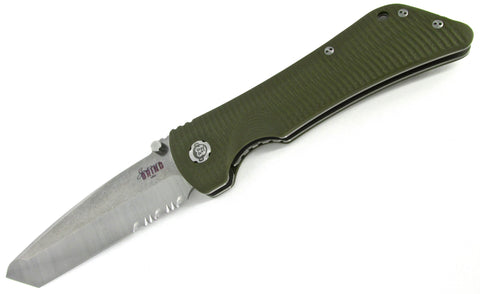 Southern Grind Bad Monkey Folding Knife Combo Edge Tanto OD Green G10