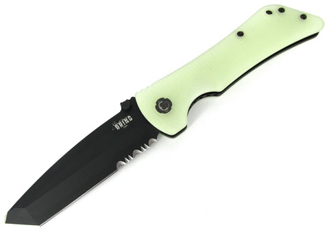 Southern Grind Bad Monkey Folding Knife Combo Edge Tanto Jade Ghost Green G10