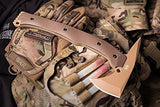 Hardcore Hardware Australia LFT-01 Tactical Tomahawk Desert G-10 Tan Teflon Finish