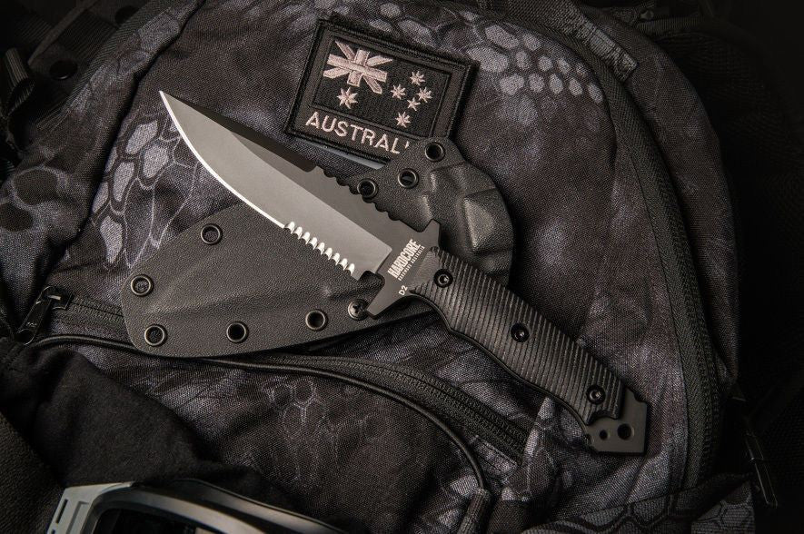 Hardcore Hardware MFK-04G2 BGB Gen 2 Tactical Knife Black G-10 & Kydex Sheath