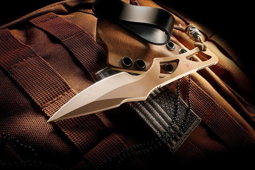 Spartan Formido Self Defense EDC Fixed Blade Tactical Knife FDE Tan