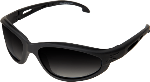 Edge Tactical Eyewear TSFG716 Falcon Matte Black w/ Polarized Gradient Smoke Lens