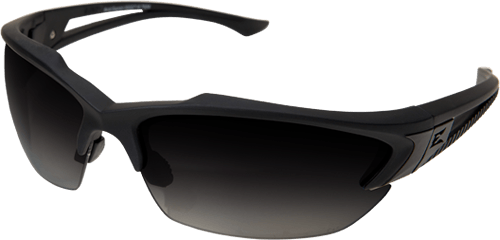 Edge Tactical Eyewear TSGG716 Acid Gambit Matte Black w/ Polarized Gradient Smoke Lens