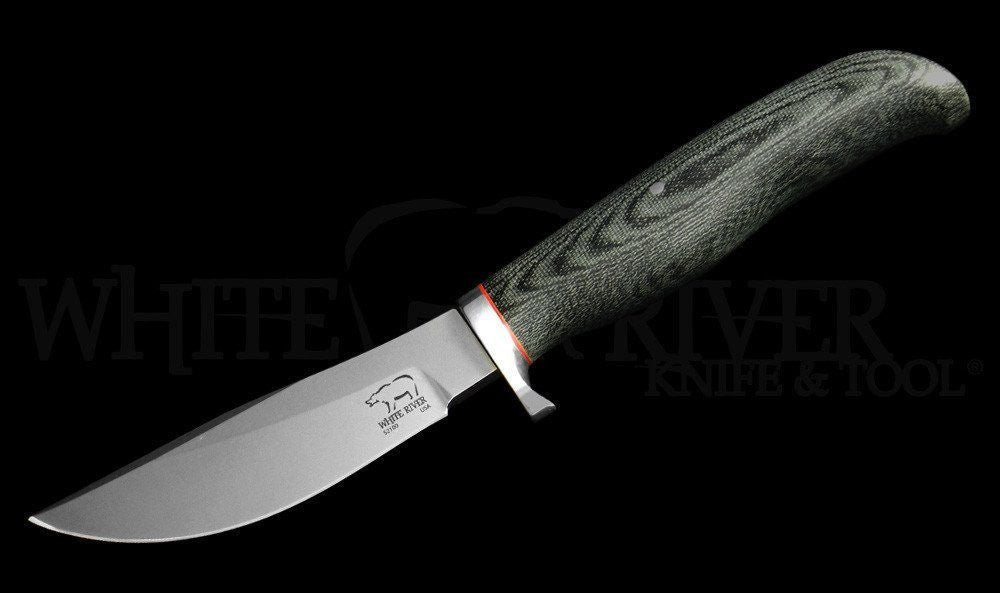 White River Knife & Tool Large Clip Point Knife Micarta Handle