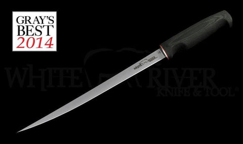 "White River Knife & Tool 11"" Fillet Knife Black Canvas Micarta Handle"
