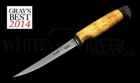 "White River Knife & Tool 6"" Fillet Knife Ultra Light Cork Handle"