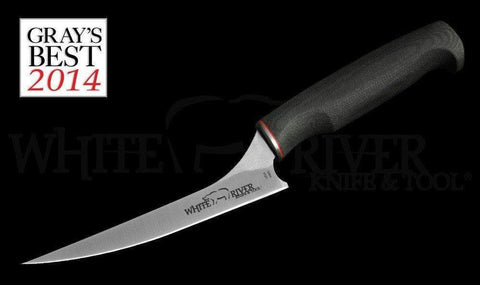 "White River Knife & Tool 6"" Step-up Fillet Knife Black Micarta Handle"