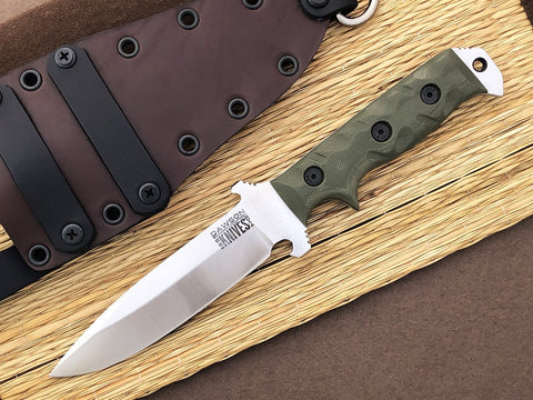 Dawson Knives Chief Fixed Blade Survival Knife CPM-3V Steel Satin Finish OD Green G-10 Handle