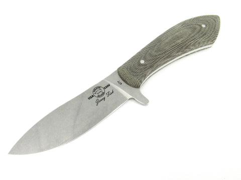 White River Knife & Tool Jerry Fisk Sendero Bush Fixed Blade Knife Olive Drab Micarta