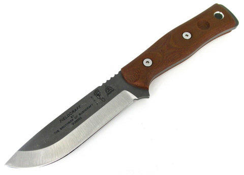 TOPS B.O.B. Brothers of Bushcraft Survival Knife Tumbled BROS-TBF