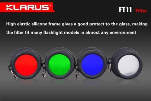 Klarus FT11 Blue Filter for XT11 & RS11 Flashlights New
