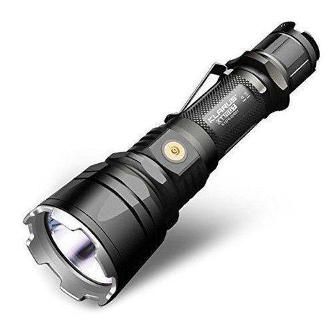 KLARUS XT12GT 1600 Lumen Long Range Rechargeable Tactical Flashlight New